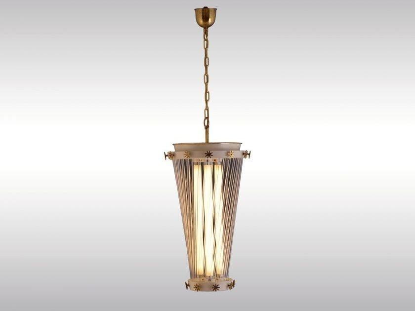 Classic style brass pendant lamp WIRTSCHAFTSWUNDER - Woka Lamps Vienna