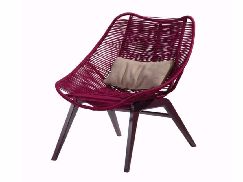 Cord armchair WISHBONE by ROCHE BOBOIS