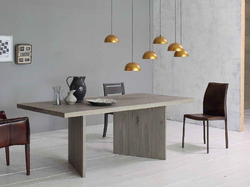 tavolo rettangolare in legno massello wood devina nais