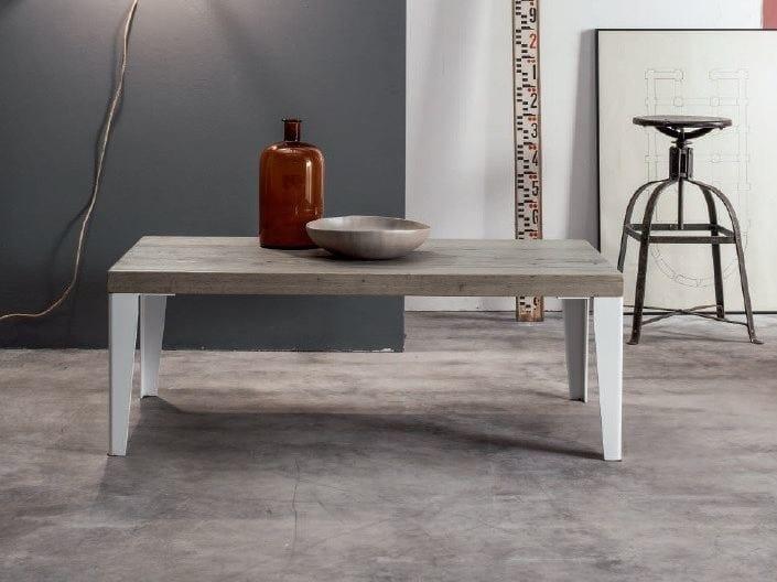 Tavolino rettangolare in legno massello da salotto WOOD | Tavolino rettangolare - Devina Nais
