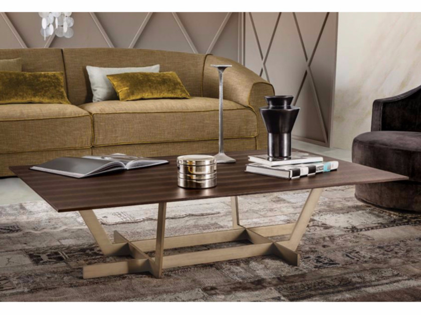 Low rectangular wooden coffee table REGENT | Wooden coffee table - Casamilano