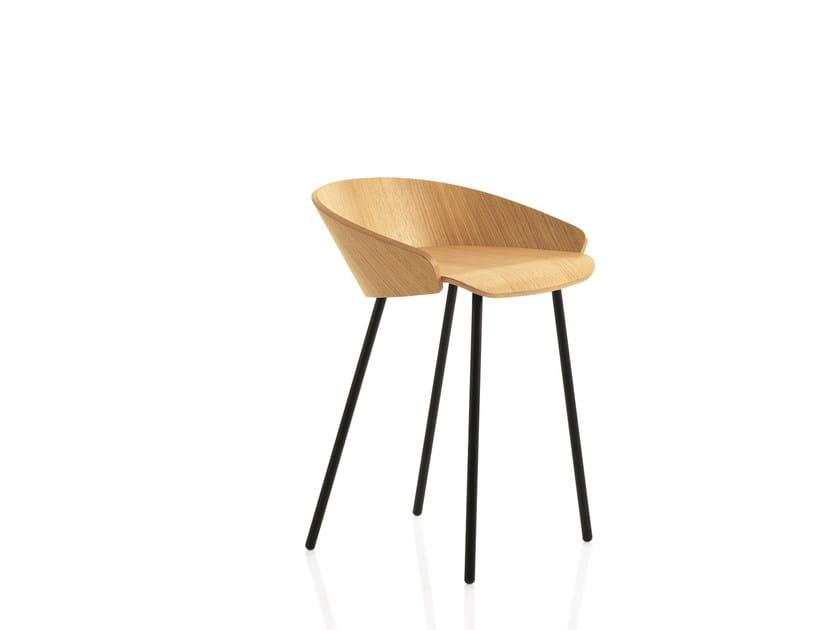 Wooden barstool KARL | Barstool - Emmegi