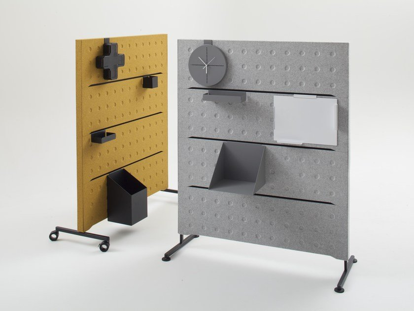 Free standing modular felt workstation screen PLUS | Workstation screen by BALMA