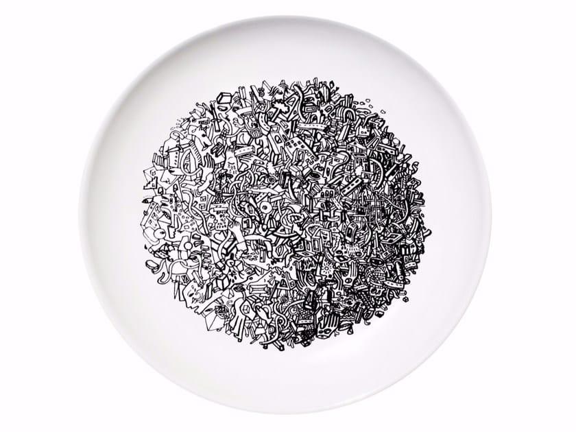 Ceramic dinner plate WORLD - Kiasmo