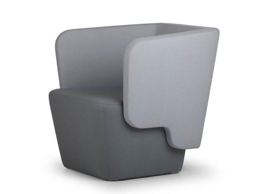 Fabric easy chair WRAP MAXI | Easy chair - True Design