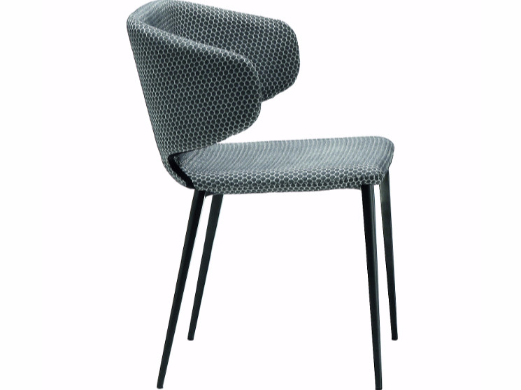 Upholstered chair WRAP | Restaurant chair by Midj