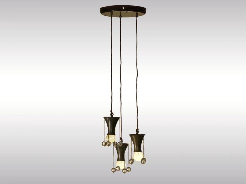 Classic style brass pendant lamp WW-PENDE-3 - Woka Lamps Vienna