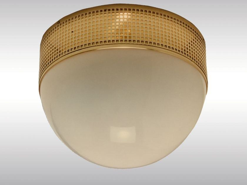 Classic style brass ceiling lamp WW3D/35 - Woka Lamps Vienna