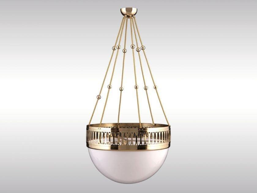 Classic style brass pendant lamp WW7/35PO - Woka Lamps Vienna