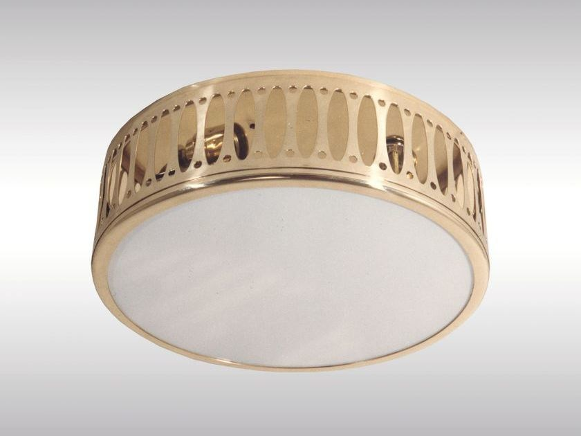 Classic style brass ceiling lamp WW8/25 by Woka Lamps Vienna