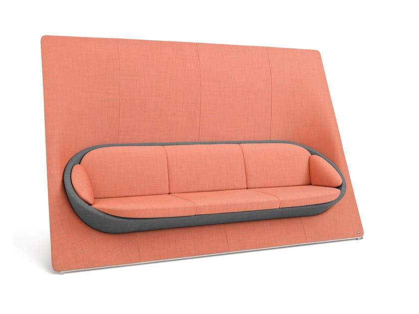 3 seater high-back fabric sofa WYSPA 32 by profim