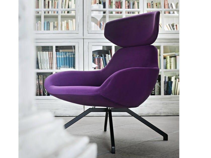 Upholstered steel armchair with headrest X 2BIG - ALMA DESIGN