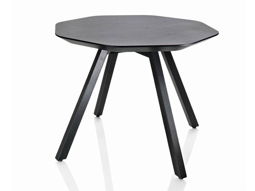 Octagonal ash coffee table X TABLE | Coffee table by ALMA DESIGN
