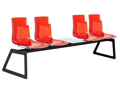 Freestanding polycarbonate beam seating X-TREME | Beam seating by Papatya