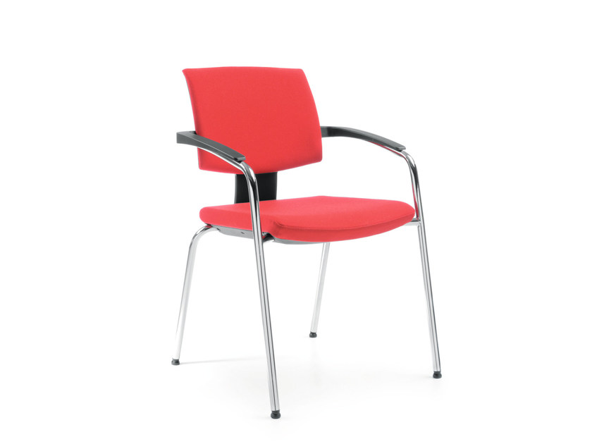 Fabric training chair with armrests XENON 20H by profim
