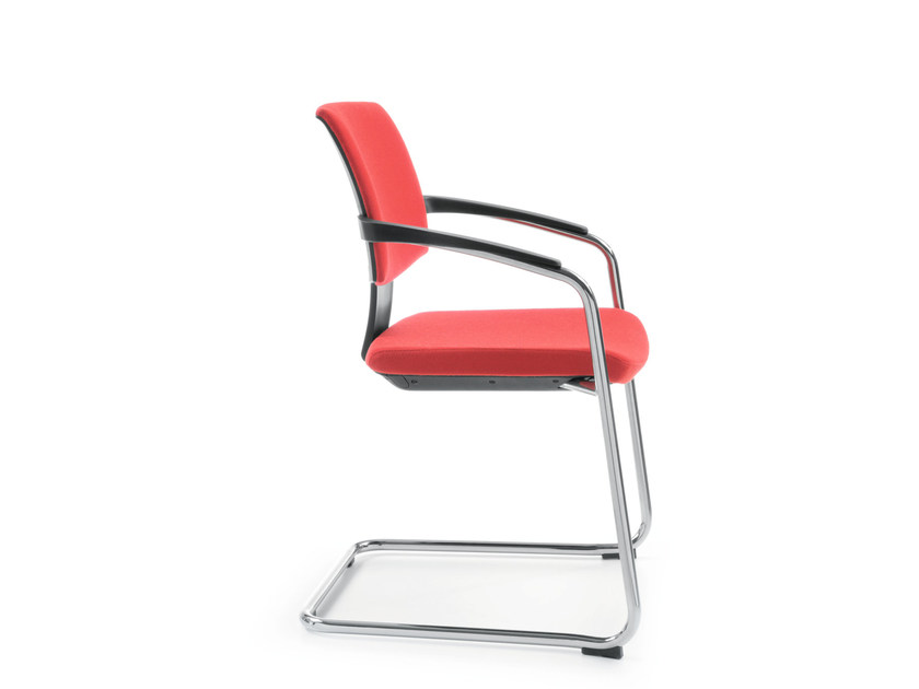 Cantilever stackable training chair with armrests XENON 20V by profim