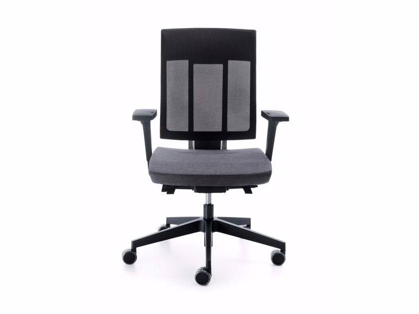 Swivel task chair with 5-Spoke base with armrests XENON NET 100STL - profim