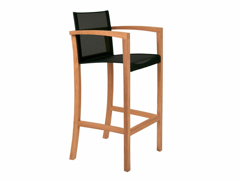 Batyline® counter stool with armrests XQI | Counter stool - ROYAL BOTANIA