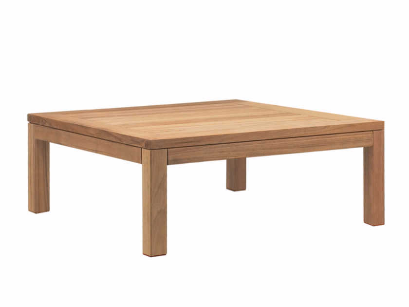 Low teak garden side table XQI | Low coffee table - ROYAL BOTANIA