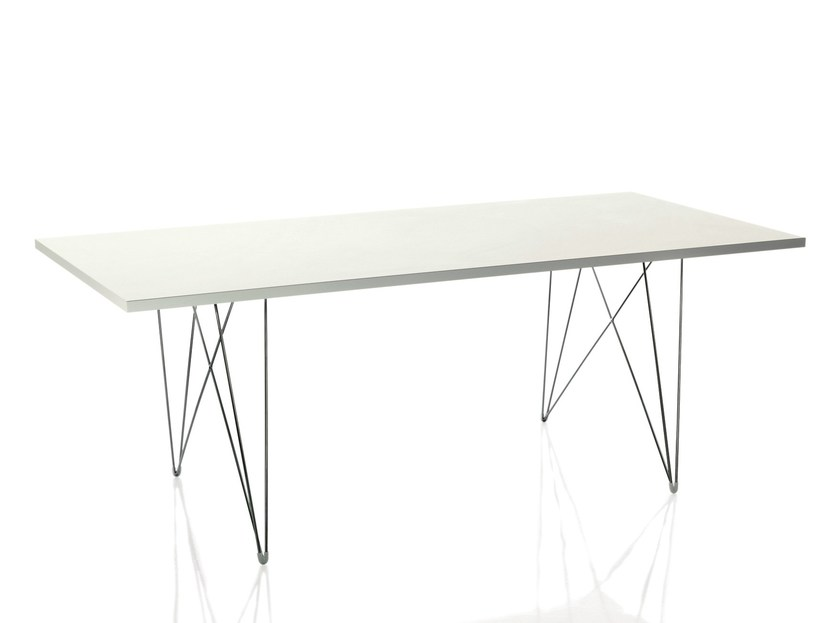Rectangular MDF table XZ3 | Rectangular table by Magis