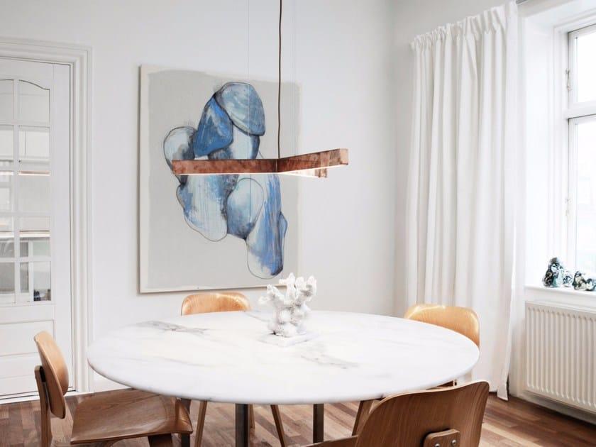 LED handmade pendant lamp Y MODEL | Copper pendant lamp - Anour