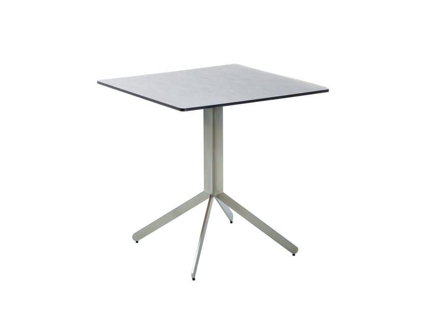 Folding square ceramic dining table YIX | Ceramic table - solpuri