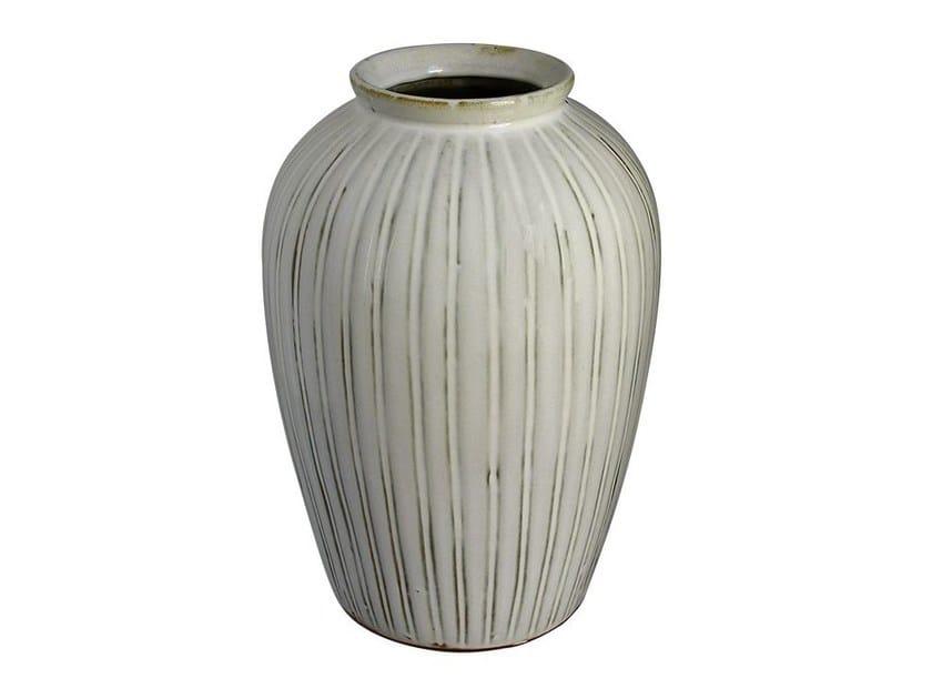 Ceramic vase YIXING JARDIN - COTE DE MELON - Compagnie Française de l'Orient et de la Chine