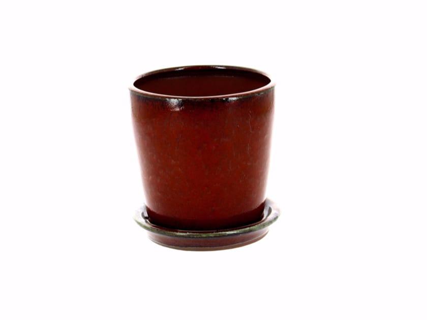 Low ceramic garden vase YIXING JARDIN H14 | Garden vase by CFOC