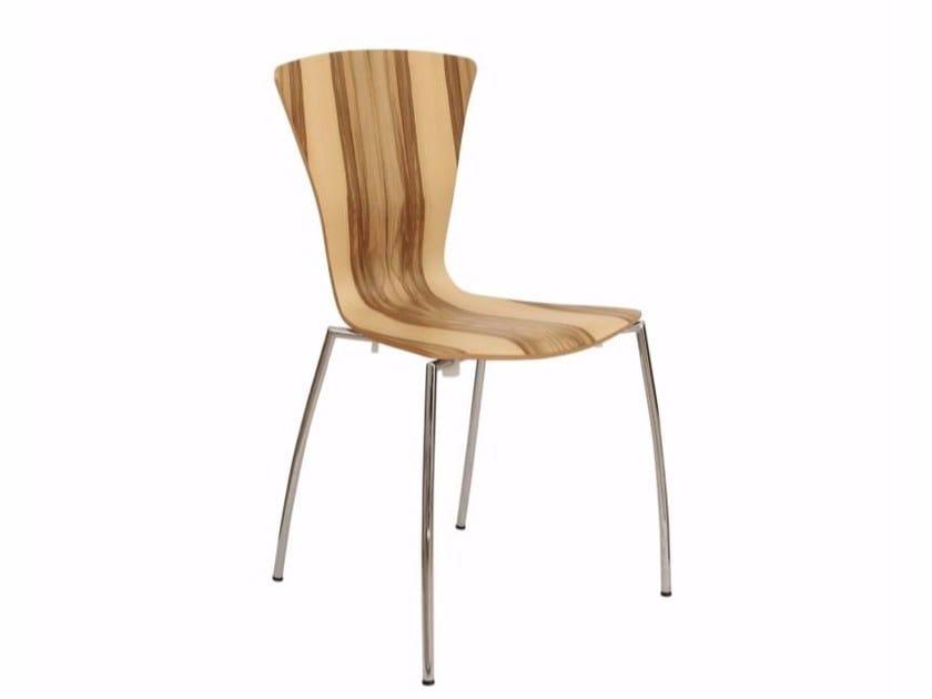 Stackable wood veneer chair YORK - Danerka
