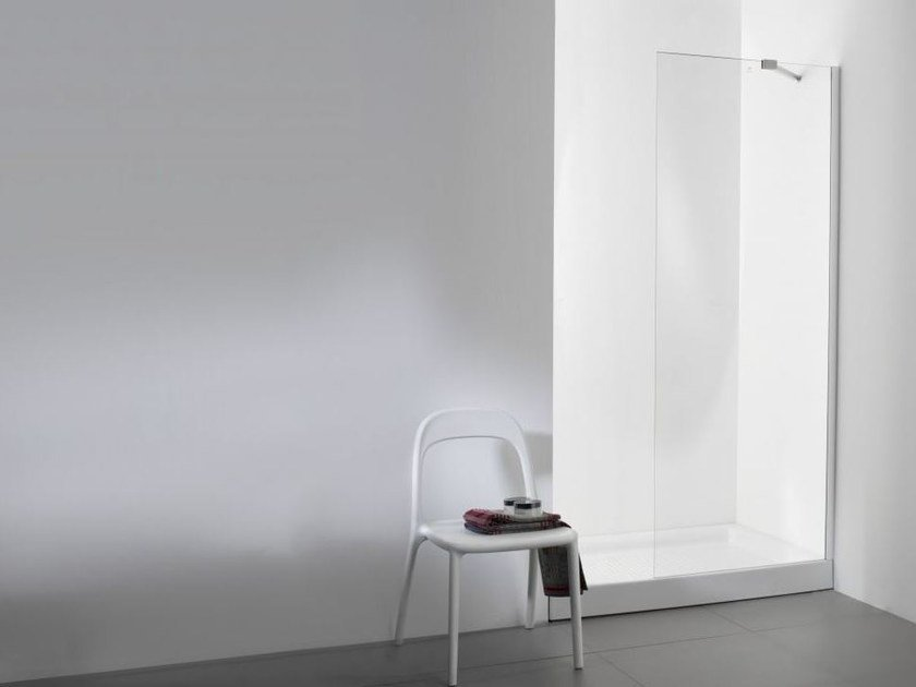 Glass shower wall panel YOVE 1 by Systempool