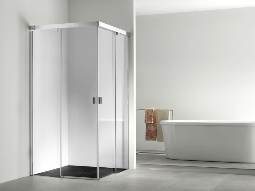 Corner glass shower cabin YOVE 4 - Systempool