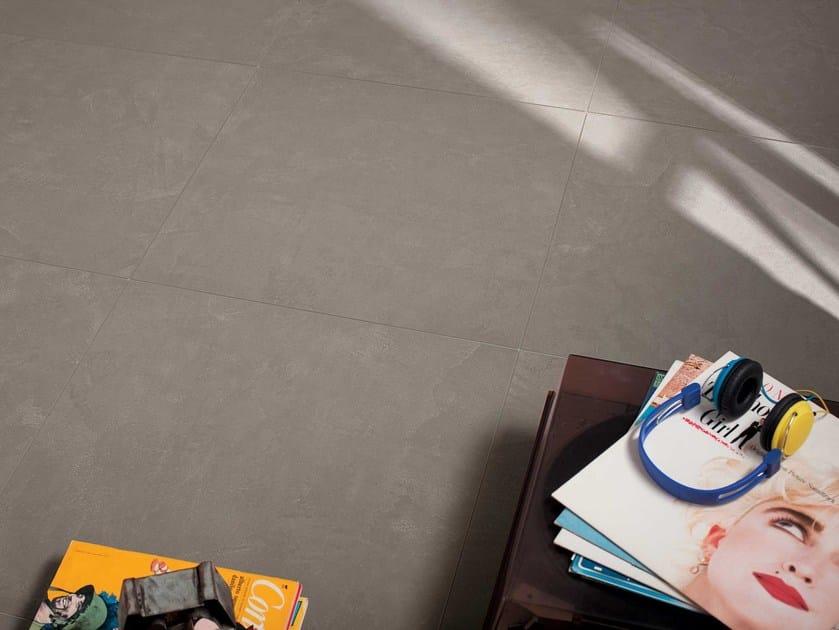 Wall/floor tiles with concrete effect ZEN CENDRE by NOVOCERAM