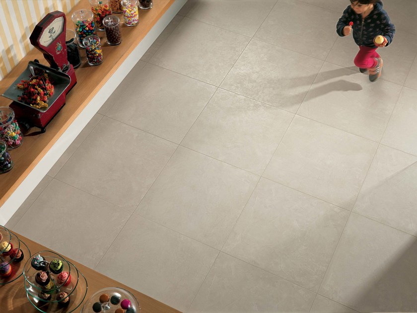 Wall/floor tiles with concrete effect ZEN LIN - NOVOCERAM