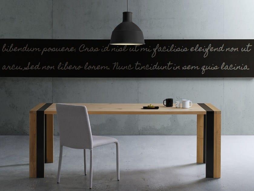 Extending rectangular table ZACK by Natisa