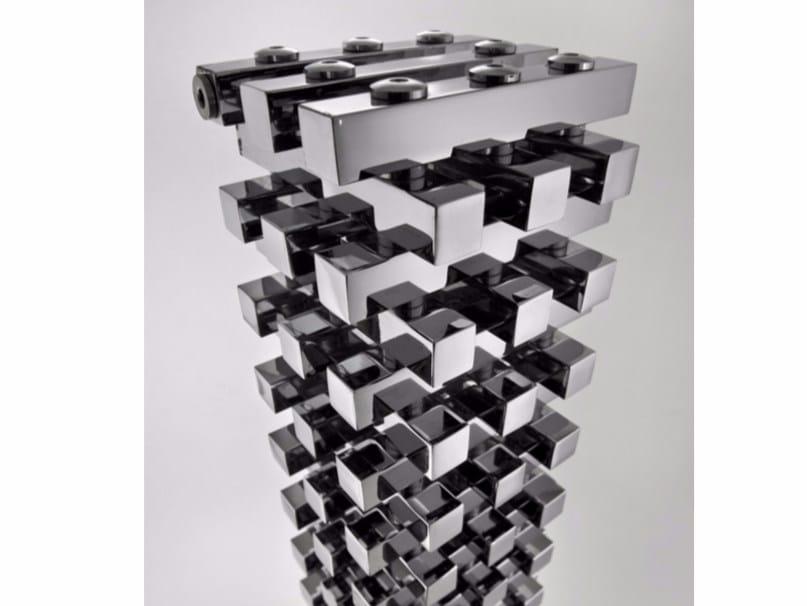 Chrome modular floor-standing decorative radiator ZANZIBAR | Floor-standing decorative radiator - Hotwave