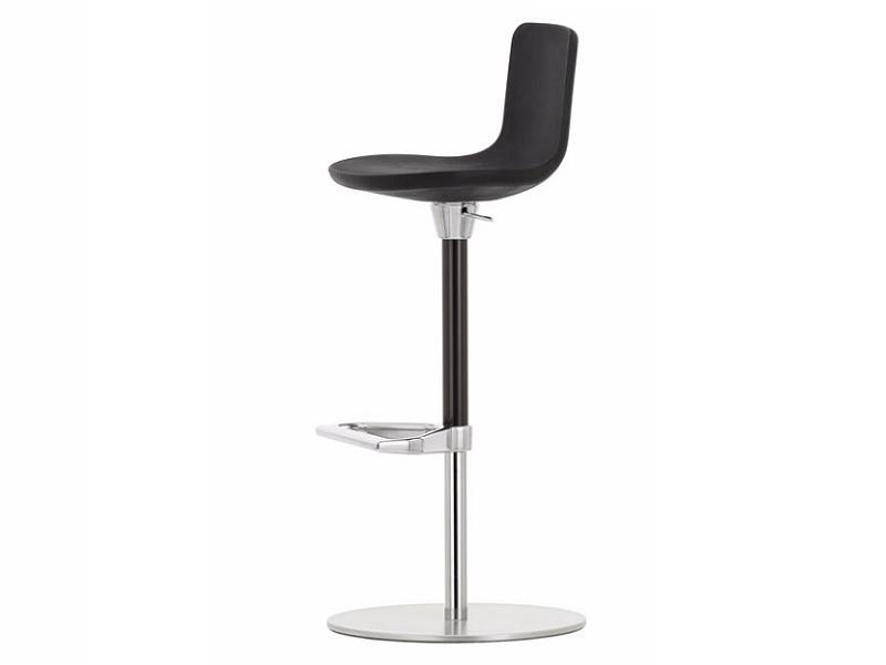 Height-adjustable polyurethane foam stool with footrest ZEB STOOL FOAM BACK - Vitra