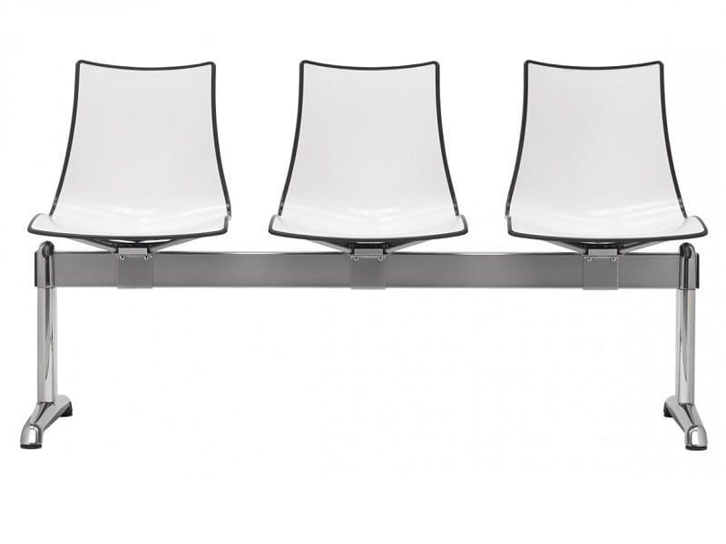 Plastic beam seating ZEBRA BICOLORE | Beam seating - SCAB DESIGN
