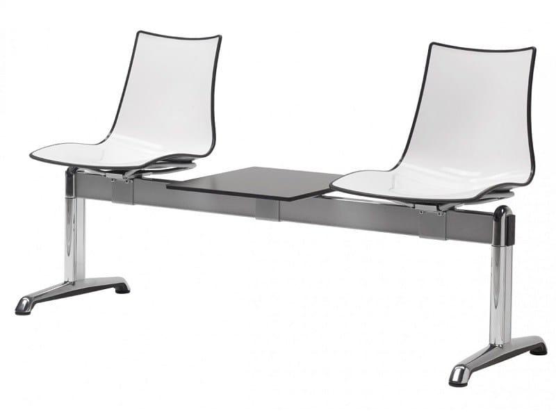 Freestanding plastic beam seating ZEBRA BICOLORE | Freestanding beam seating - SCAB DESIGN