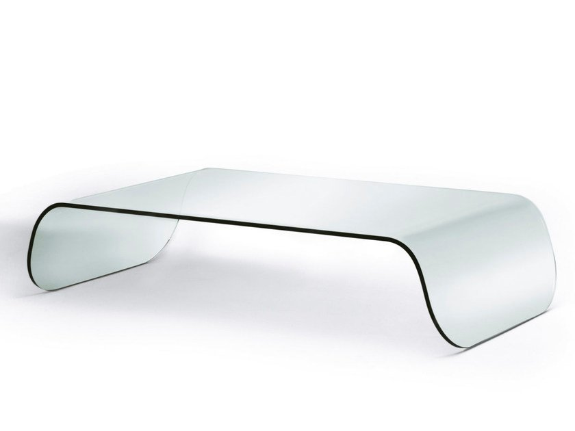 Low glass coffee table ZEN | Coffee table - Pacini & Cappellini