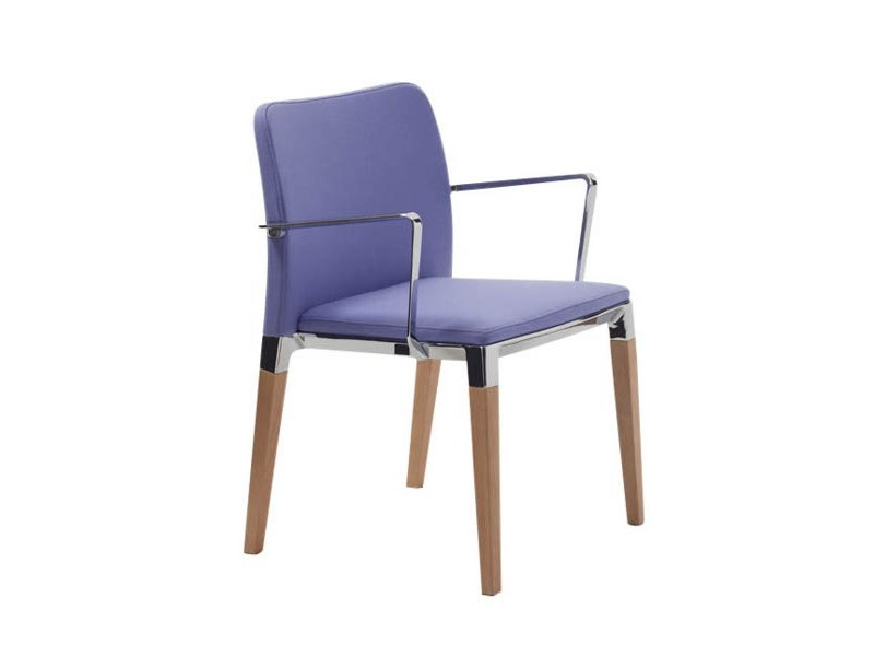 Upholstered stackable chair with armrests ZENITH S0002 B - Segis