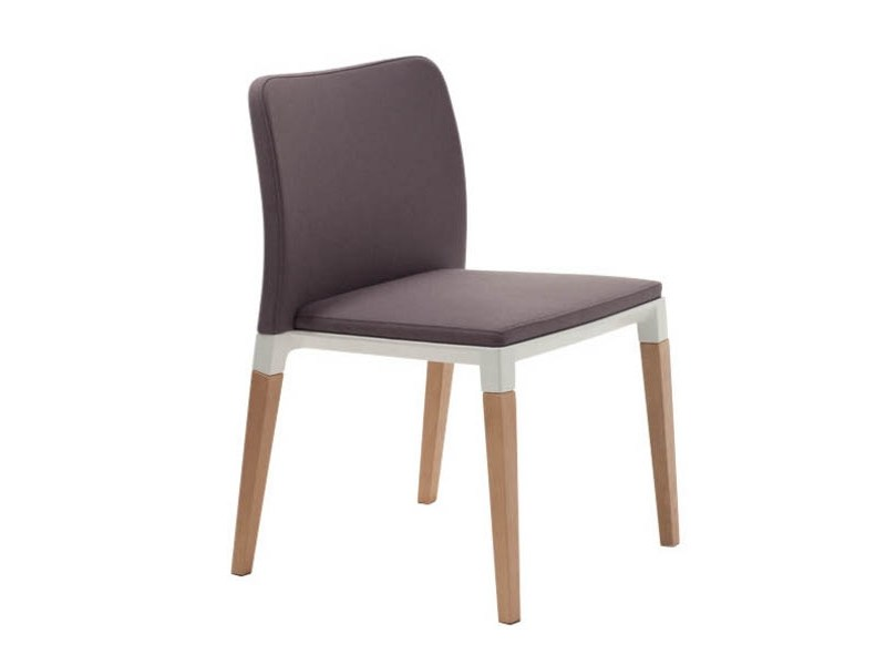 Upholstered stackable chair ZENITH S0002 by Segis