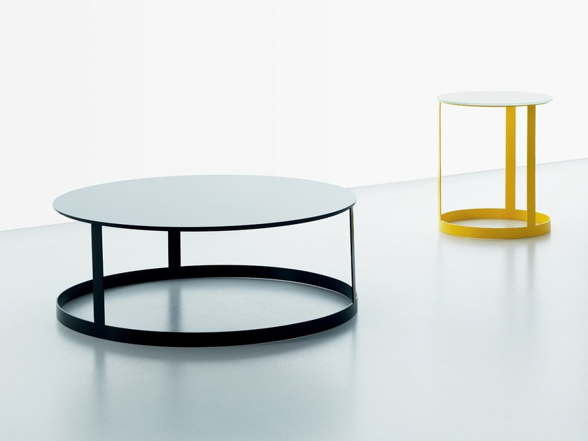 Round glass coffee table ZERO | Glass coffee table - Miniforms