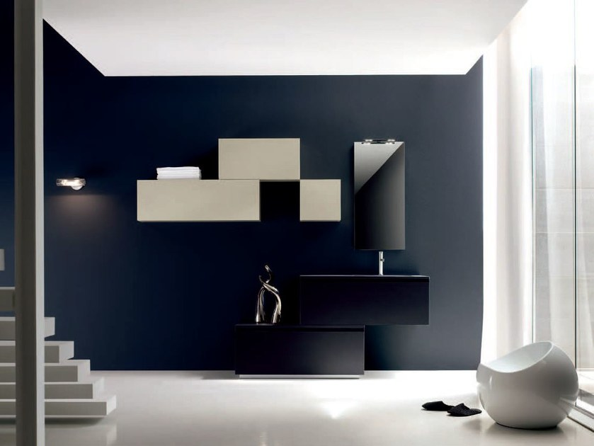 Bathroom cabinet / vanity unit ZERO4 LAMINAM - COMPOSITION 10 - Arcom
