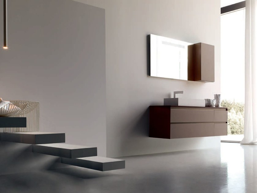 Bathroom cabinet / vanity unit ZERO4 LAMINAM - COMPOSITION 12 by Arcom