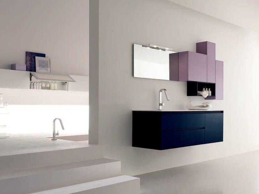 Sistema bagno componibile ZERO4 VETRO - COMPOSIZIONE 4 - Arcom