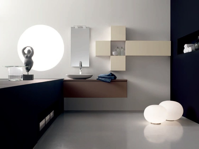 Bathroom cabinet / vanity unit ZERO4 LAMINAM - COMPOSITION 9 by Arcom