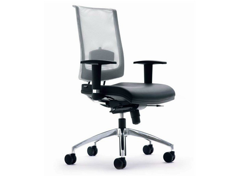 Swivel mesh task chair with casters ZERO7 | Mesh task chair - Ares Line