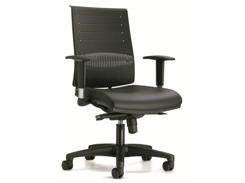 Swivel plastic task chair with casters ZERO7 | Plastic task chair - Ares Line