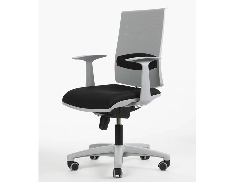 Swivel task chair with 5-Spoke base with casters ZERO7 | Task chair - Ares Line