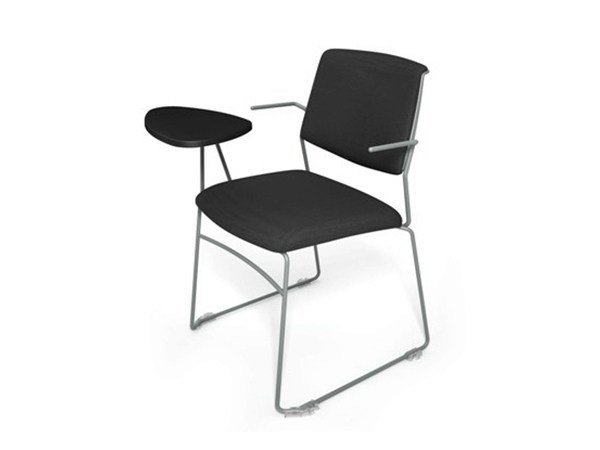 Sled base training chair with writing tablet ZERO9 FILO | Sled base training chair - Ares Line